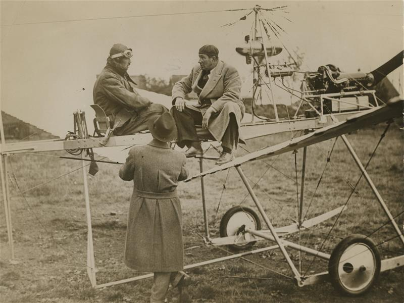 Anthony Fokker with his plane