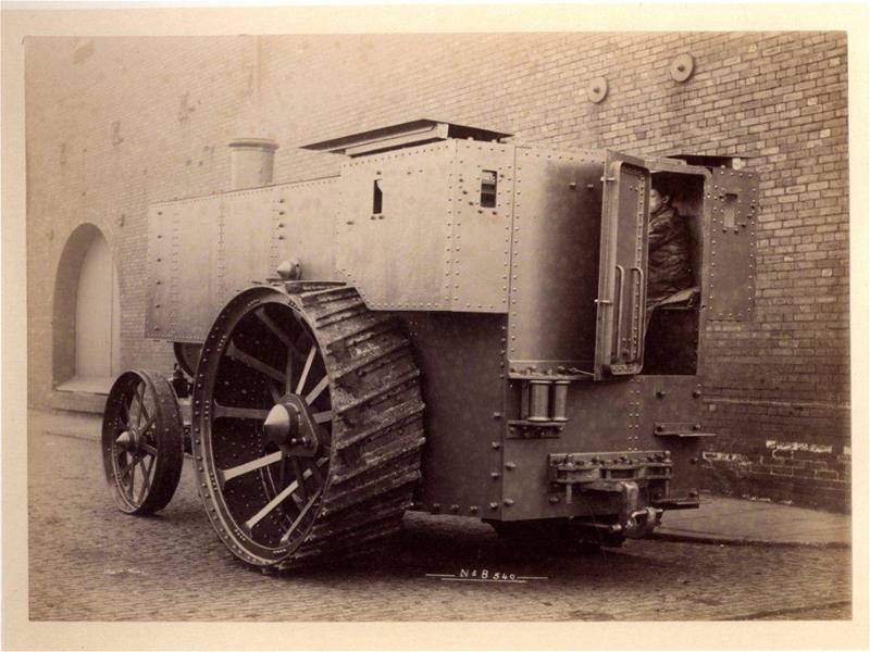 Fowler armoured engine