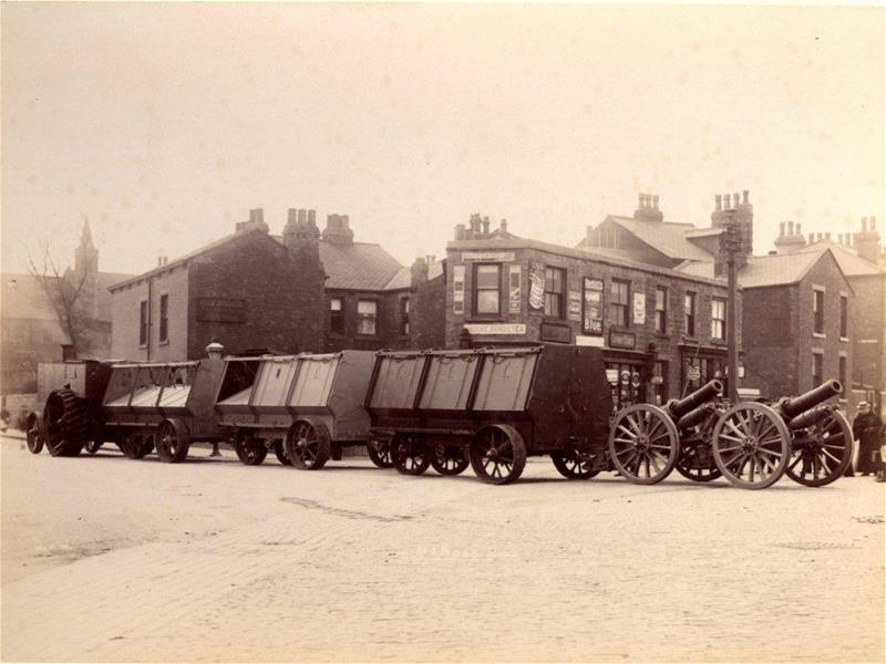 Fowler armoured wagon train