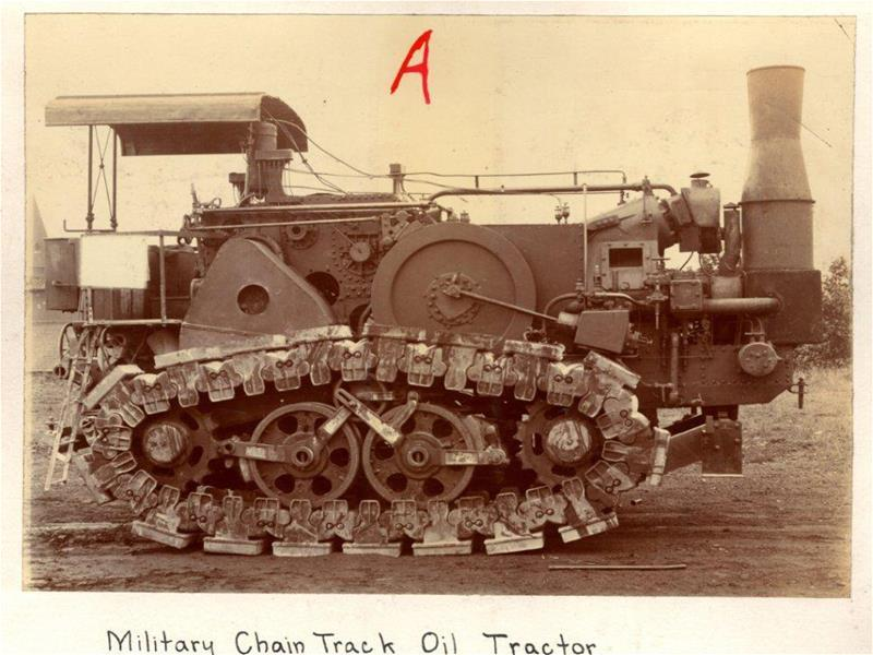 Military train track tractor