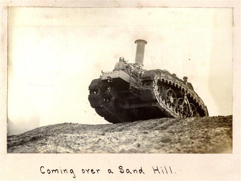 Mounting a sand hill