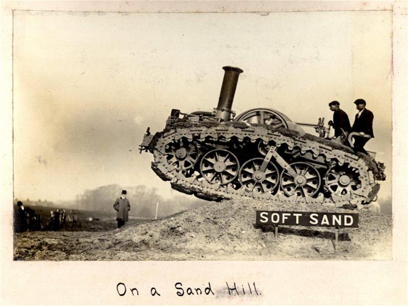 On a sand hill