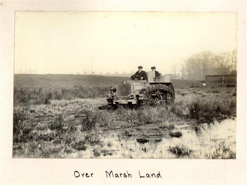 Over marsh land