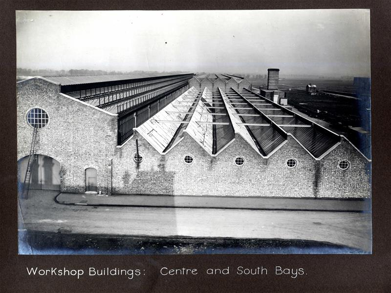 Workshop buildings, centre and southern bays