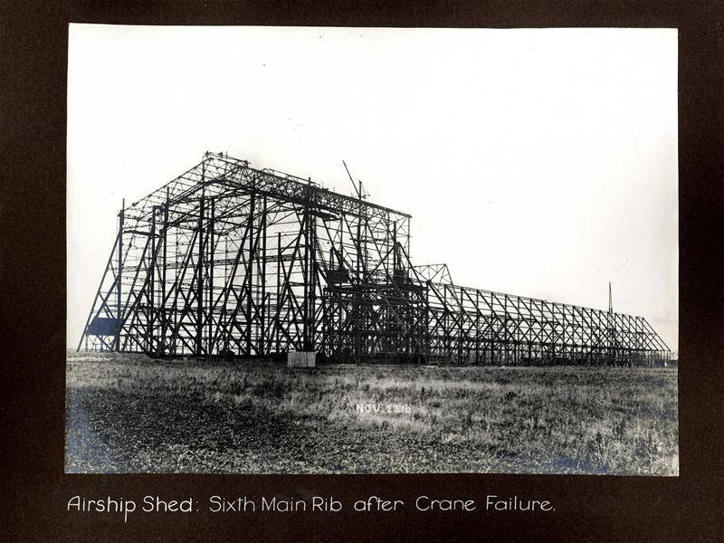 Airship shed, sixth main rib