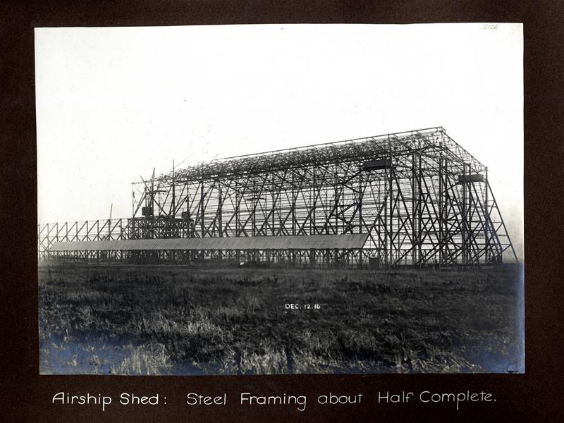 Airship shed, steel framing