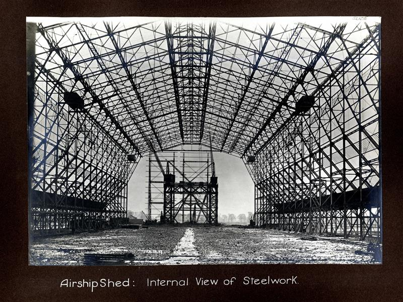 Airship shed, steelwork