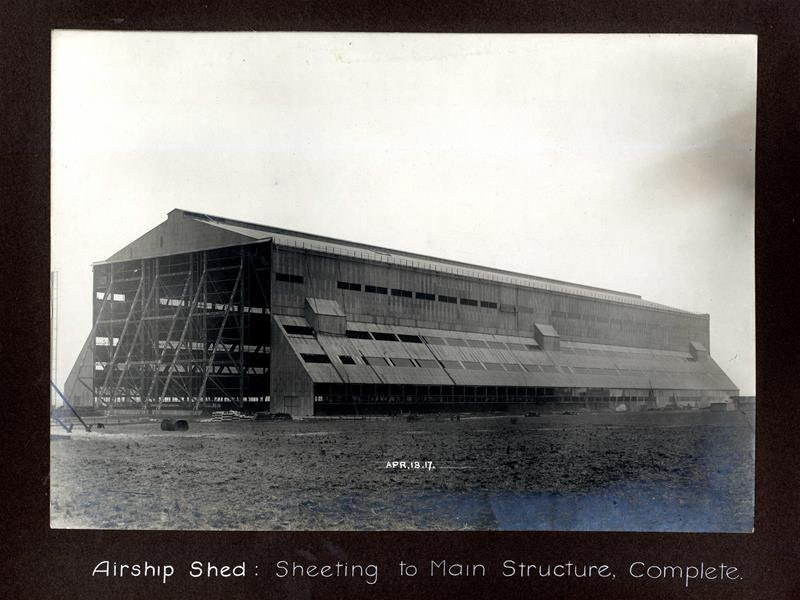 Airship shed, sheeting complete