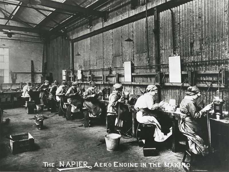 Making the Napier Aero engine in 1915