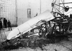The result of a loading test on a Royal Aircraft Factory B.E.2a, 1914